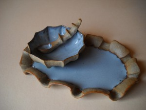 Mini Bowl & Spoon Small Oval Tray